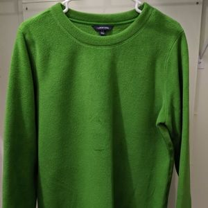 Land's End Fleece Pull Over Top, Large